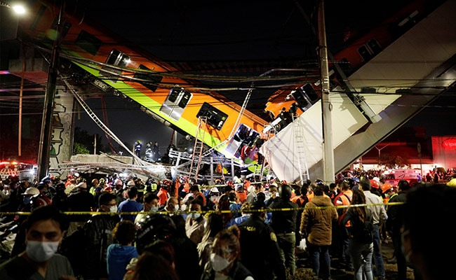 13 Killed, 70 Injured As Mexico City Metro Overpass Collapses