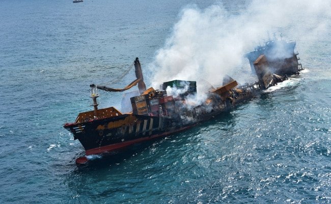 Cargo Ship Carrying Tonnes Of Chemicals Sinks Off Sri Lanka