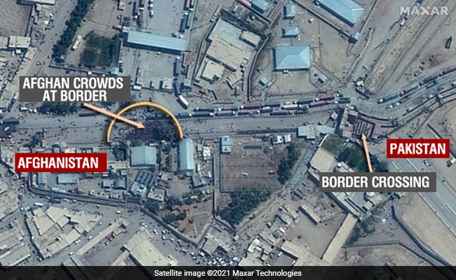 Exclusive: Satellite Images Show Thousands Of Afghans At Pak Border